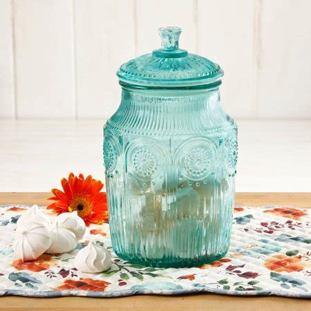 pioneer woman adeline glass canister multiple colors