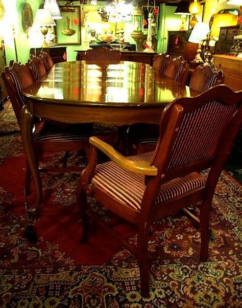 The Dining Room Chair Company Anthes Baetz Walnut Vintage Dining Room Table And 8 Chairs Sold For The Past Antiques