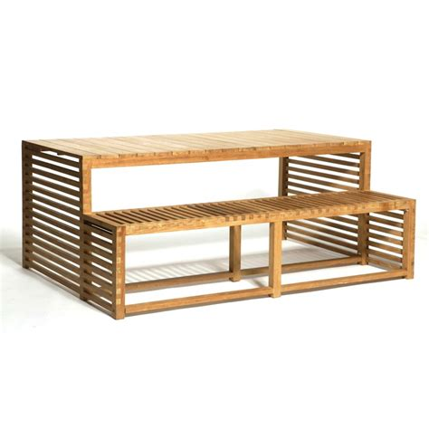 teak picnic table with benches the tjik nrun picnic table bench is made of solid teak