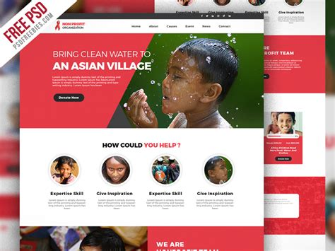 best templates for ngo website free psd non profit organization website template psd on