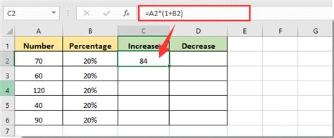how to increase or decrease cell number value by