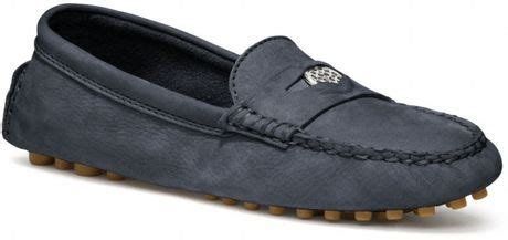 coach nicola loafer coach nicola loafer in blue ink lyst