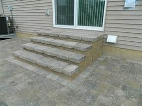 Paver Patio Steps Brick And Block Stairs Design Hardscapes