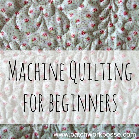 Quilting For Beginners by Quilting Machine