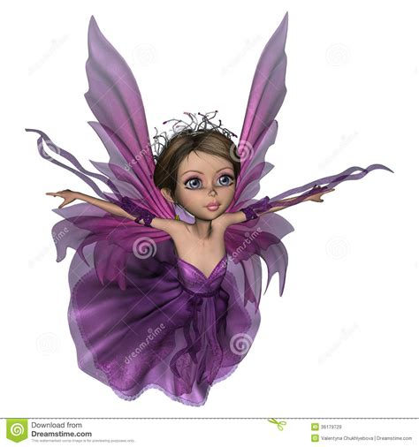 Holgen Purple flying butterfly stock illustration