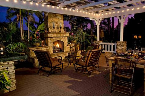 tuscan style backyards gazebo plans with fireplace homesfeed