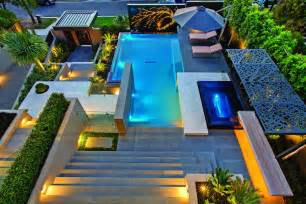 Small Pool Designs For Small Backyards Contemporary Home In Melbourne With Resort Style Modern