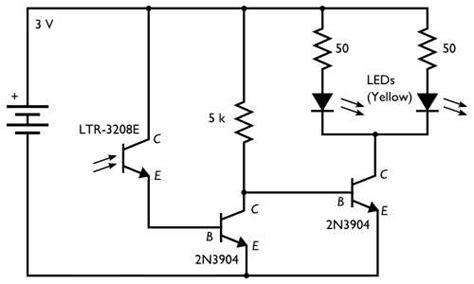 phototransistor base resistor phototransistor light sensor using photo transistor electrical engineering stack exchange