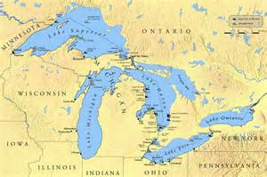 map of lakes shipwrecks great lakes region