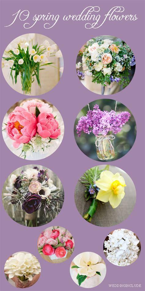 TOP TEN SPRING WEDDING FLOWERS   WeddingInclude   Wedding