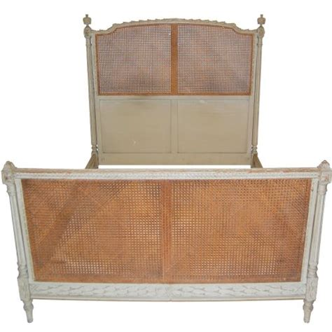 cane bed frame french antique bed with cane and painted frame circa 1880