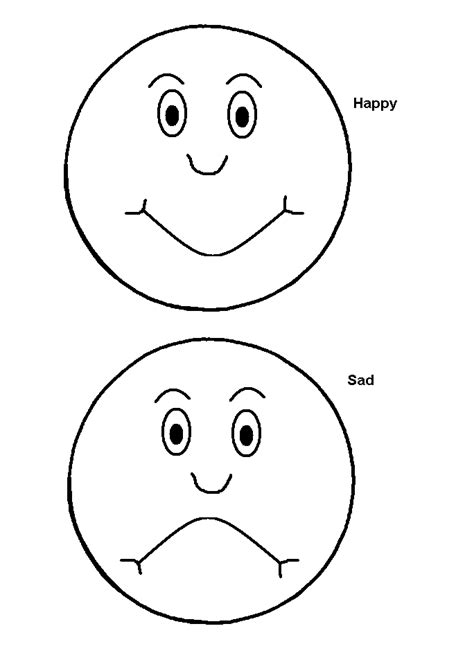 emotion pictures for children printables and crafts