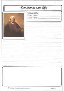 fact file template on a person biography practical pages