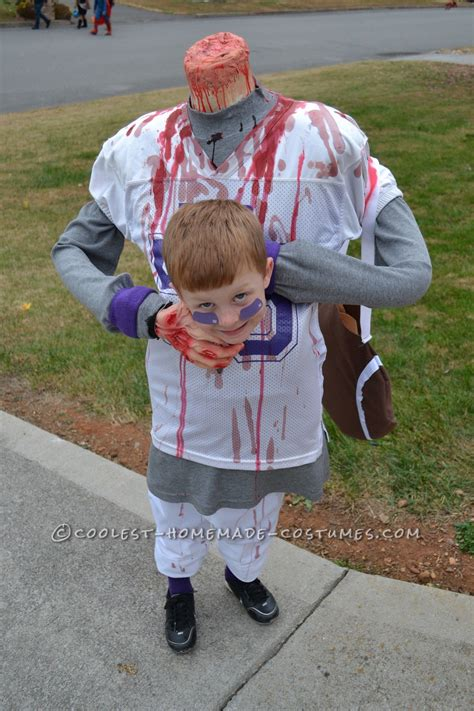 scary diy headless football player halloween costume