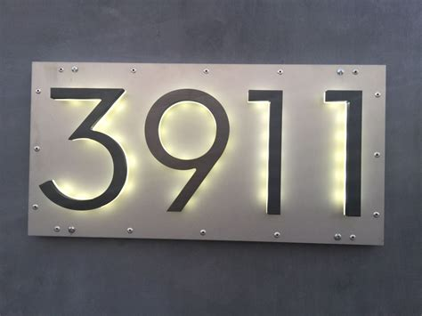 house address numbers led 8 quot modern bronze backlit address numbers home decor pinterest address