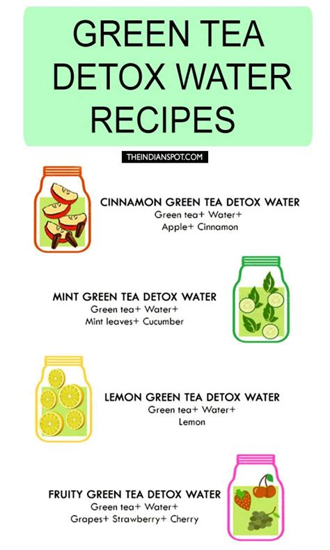 Detox Cleanse Recipes Weight Loss by Green Tea Detox Water Recipes For Cleansing And Weight Loss