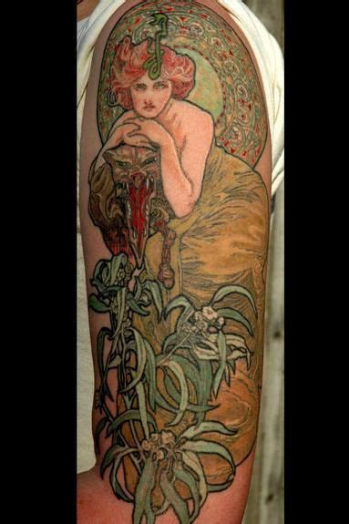 art deco tattoo 314 best mucha nouveau tattoos images on