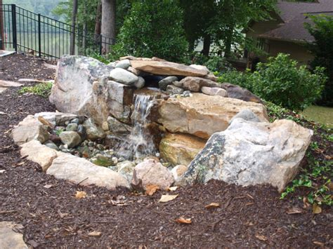 landscaping water features pondless water feature green side up landscaping