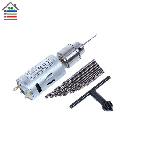 Pres Motor new dc 5 12v electric motor pcb drill press drilling compact set with 10pc 0 5 3 0mm twist