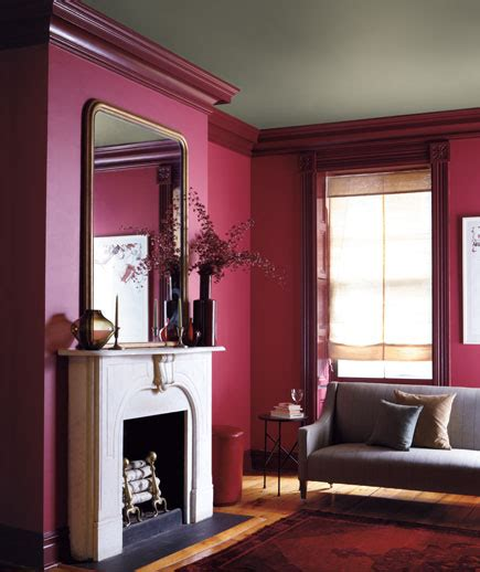 wall and trim color combinations this combination of berry walls a putty ceiling and