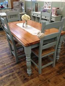 How To Paint Kitchen Table And Chairs Gorgeous Kitchen Table And Chair Set Transformed By Aspirations Uk Using Frenchic Furniture