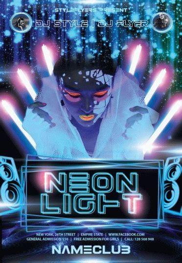 Neon Light Party Psd Flyer Template 6086 Styleflyers Lights Flyer Template