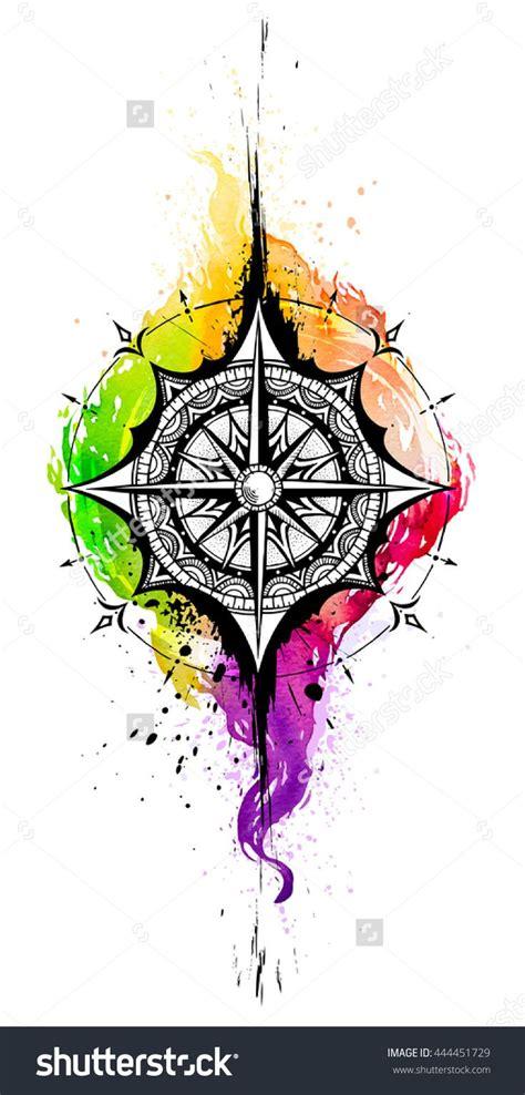 watercolor tattoo frankfurt de 25 bedste id 233 er inden for kompas p 229
