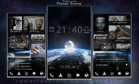 gallery themes for android planet scene android theme presentation by romaniandroid