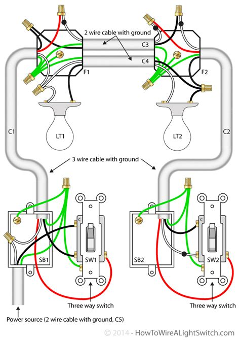 3 way 2 switch wiring diagram get free image about