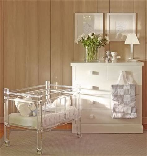 Lucite Crib by I Die For That Mini Lucite Crib Baby Cribs