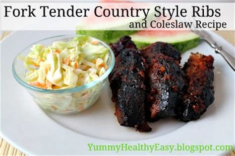 simple country style ribs recipe fork tender country style ribs coleslaw