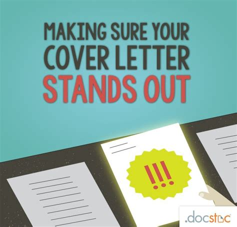 make your cover letter stand out sure your cove letter stands out cover letter and
