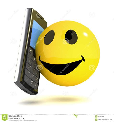 mobile emoticons 3d smiley mobile stock illustration image 38945389