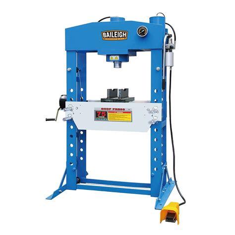pneumatic shop press shop press pneumatic press hsp 75a baileigh industrial