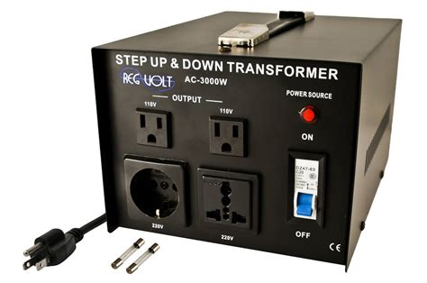 regvolt ac 3000 step up down voltage converter transformer