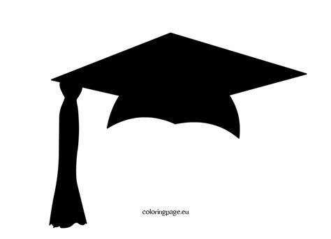 template of graduation cap graduation cap template clipart best
