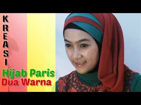 tutorial hijab dua warna jenahara two tone shawl tutorial 2 doovi