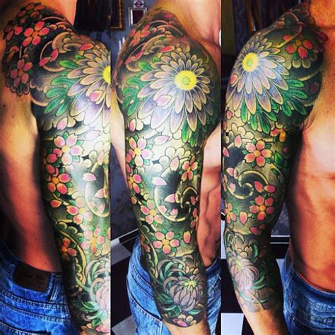 mens floral tattoo designs 50 flower tattoos for a bloom of manly design ideas
