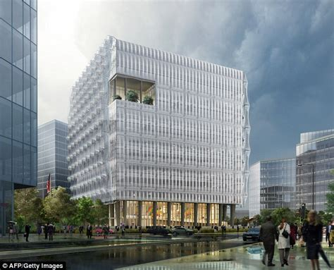American Embassy Vauxhall Revealed The New 163 650m High Security Us Embassy
