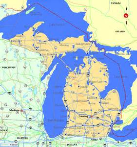 michigan map listings united states