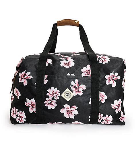 obey outsider weekender floral duffle bag at zumiez pdp
