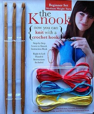 knit with crochet hook knook the knook kit now you can knit with a crochet hook leisure