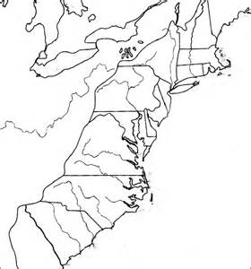blank us map 13 colonies blank map 13 colonies