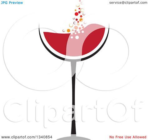 wine glass border clipart 54