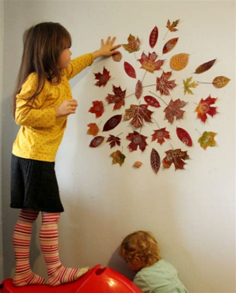 how to decorate a wall cool autumn idea to decorate a kids room wall kidsomania