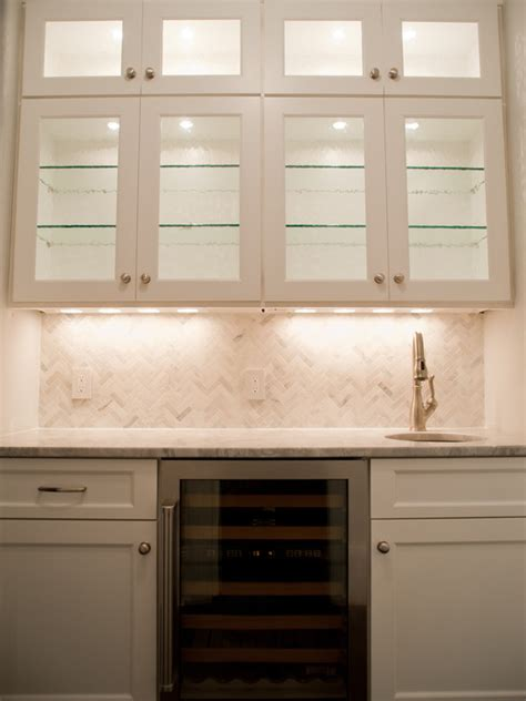 White Kitchen Furniture Sets marble herringbone tile backsplash transitional