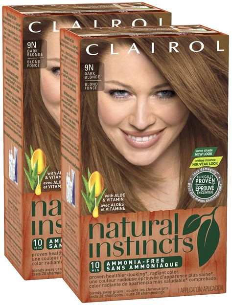 natural instincts hair color shades save 2 off 2 clairol natural instincts hair colors