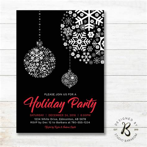 20 holiday invitations free psd vector ai eps format