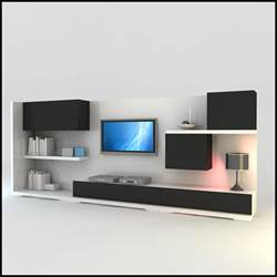 modern tv units tv wall unit modern design x 15 3d models cgtrader com