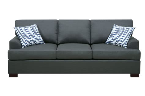 black fabric sofa poundex camille f7992 black fabric sofa steal a sofa